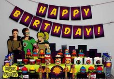 Superhero Party Dessert Table {Birthday Ideas} - Spaceships and Laser Beams - The background