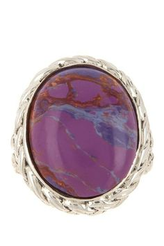 Hilary Joy Sterling Silver Purple Mohave Turquoise Ring