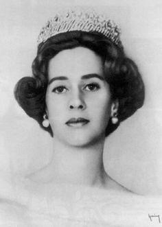 Queen Fabiola of Belgium wearing the  Nine Provinces Tiara