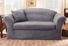 At Sure Fit, We know that all furniture is not made alike... Soft Suede in a variety of slipcover styles.