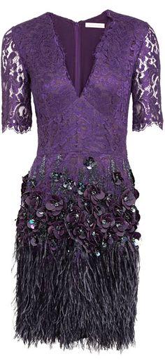 Matthew Williamson ● Purple Lacquer Lace Dress