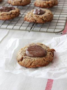 Sea Salt Nutella Peanut Butter Cookies.