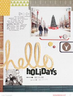 hello holidays by gluestickgirl at @Studio_Calico #SCcoppermountain