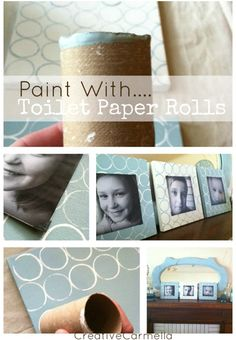 Stamp with Toilet Paper Tubes featured at savedbylovecreati..., project by Creative Carmella
