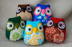 stuf owl, owl softie, clever craft, fabric owl, owls, thing