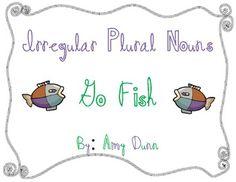 Go Fish for irregular plural nouns {free)