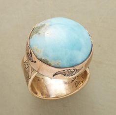 LARIMAR BLUE EARTH RING