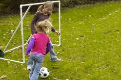 How to Build a Soccer Goal by thisoldhouse: Because it's made from PVC pipes and deer netting, this goal is so lightweight and easy to move that you can set it up whenever you're ready to play. Easy! #DIY #Soccer_Goal