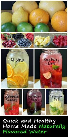 Iftar Tips> Healthy Home Made Naturally Flavored Water |  Its both-healthy and colourful and is so easy to accomplish! Add fruit flavour to your drinking water the easy way!
