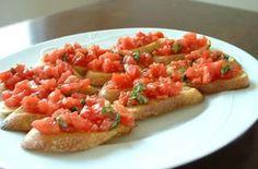 Bruschetta with Tomato and Basil — Punchfork