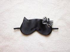 Silk Satin Cat Sleep Eye Mask by Naomilingerie on Etsy, $22.00
