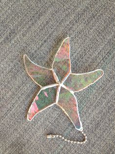 Stained Glass starfish fan pull