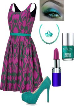 """Purple & Teal"" by in2song on Polyvore"