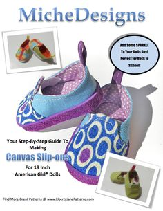 Miche Designs Canvas Slip-On Shoe Pattern for Dolls