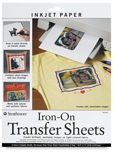 Iron-On Transfer Sheets, Pkg of 5