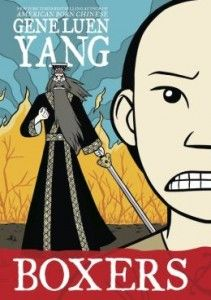 Boxers & Saints by Gene Luen Yang. Gr 8&up This two-volume graphic novel about the Boxer Rebellion is about a piece of history that's often overlooked. Boxers tells the story of a young Chinese peasant who becomes instrumental in the uprising against Westerners invading China at the turn of the last century, while Saints focuses on a young Chinese girl who was converted to Christianity by the foreign missionaries. Who's right? Who's wrong?—Allison Tran, Mission Viejo Library, CA #sljbookhook