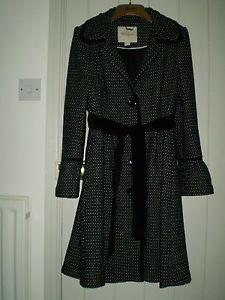 MONSOON LADIES BLACK/GREY COAT | eBay