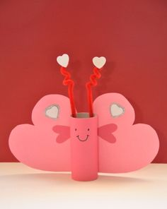 Activities: Valentine Butterfly - let them choose btwn red & pink (to give boys another option)