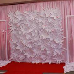 Paper flower wall.