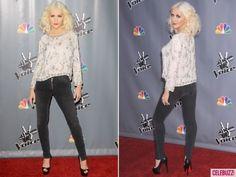 A skinny-mini Christina rocks the carpet for The Voice.