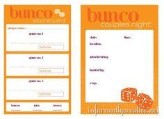 couples bunco