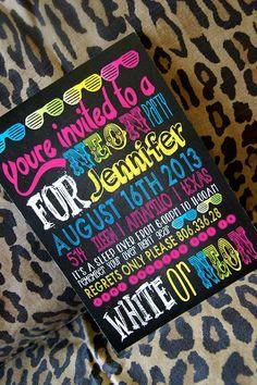 neon theme birthday party, birthday party invitations, birthday neon, birthday party neon, neon birthday parties, neon themed birthday party, neon birthday party, parti idea, bright neon