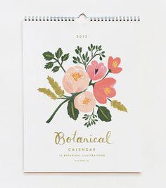 botanical illustration, rifl paper, color, art, papers, floral, design, thing, botan calendar