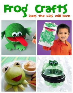 Frog Crafts for Kids that your kids will love from @funfamilycrafts - Springtime goes hand in hand with frogs, so try one of these totally fun frog crafts with your children!
