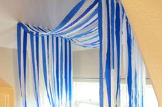Streamers can also be easy and cheap decor additions
