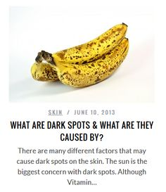 What are dark spots and what are they caused by?