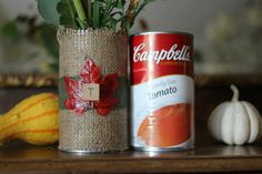 soup can vase #turkeytablescapes