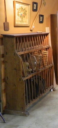 Primitive...with old breadboards...from The Old Shed - Antiques and Primitives - Russiaville, Indiana 765-883-8323.