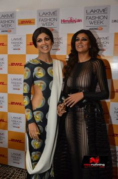 Sushmita Sen And Shilpa Shetty At Lakme Fashion Week Winterfestive 2014