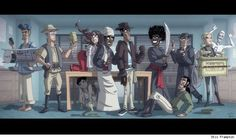 Community/Indiana Jones by Otis Frampton