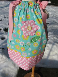 flower pillowcase dress