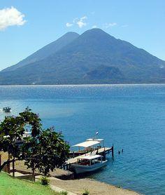Lake Atitlan in Panajachel, Guatemala