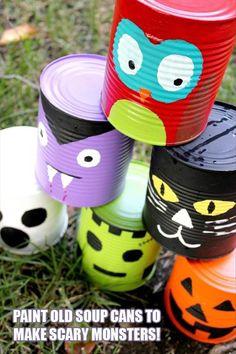 Do It Yourself Halloween Craft Ideas – 24 Pics #IrvineParkRailroad #IrvineParkRR #PumpkinPatch #Halloween #OCParks #IrvineRegionalPark #HalloweenCrafts halloween parties, fall festivals, craft, halloween carnival, halloween kids, tin cans, halloween games, carnival games, halloween activities