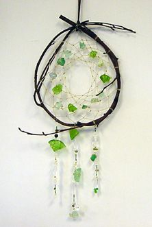 Sea glass dream catcher