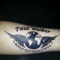 Paul walker on pinterest paul walker rip paul walker for Fast and furious tattoo