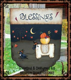 E PATTERN - Blessings - LAST NEW Fall design for 2012!! Painted & Designed by Sharon Bond - Cute for Thanksgiving!