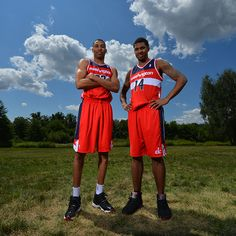 Otto Porter Jr. and Glen Rice Jr. of the Washington Wizards pose for a portrait during the 2013 NBA Rookie Photo Shoot on August 6, 2013 at the MSG Training Facility in Tarrytown, New York. (Photo by Jesse D. Garrabrant/NBAE via Getty Images)