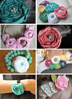 Little Birdie Secrets: fabric rosette tutorial extravaganza!