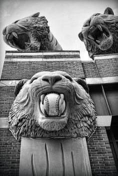 Detroit Tigers Comerica Park Tiger Statues