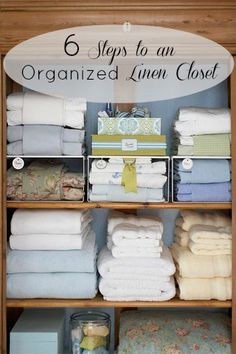 6 Steps to an Organized Linen Closet | Tipsaholic.com #home #organization #closet