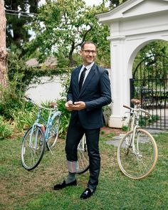 """""""I had the great opportunity to photograph the producer of Mad Men, Tom Smuts, for LA Weekly last week just before he rode off on his bike to the 2014 Emmys."""" -Danny Liao"""
