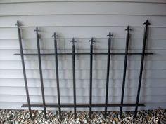 PVC DIY cemetary fence
