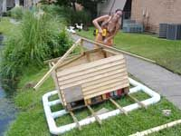 Duck houses on pinterest duck house ponds and duck pond for How to build a duck pen house