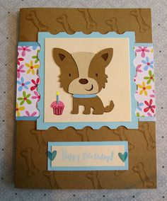 Cricut Birthday Card.  Create a Critter Cartridge.  *