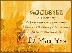 Farewell Messages, Farewell Wishes and Sayings - Messages ...