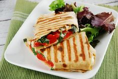 Roasted Red Pepper and Goat Cheese Wrap – 8 Points +
